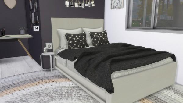 Models Sims 4: Scandinavian Bedroom