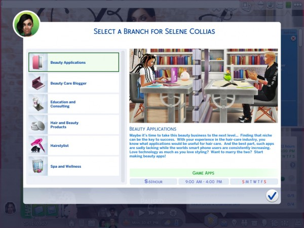 Mod The Sims: Ultimate Beauty Career by asiashamecca