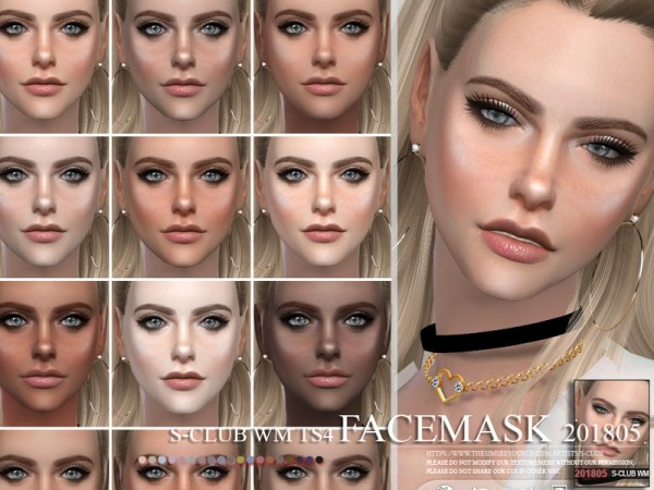 The Sims Resource: Facemask 201805 by S Club