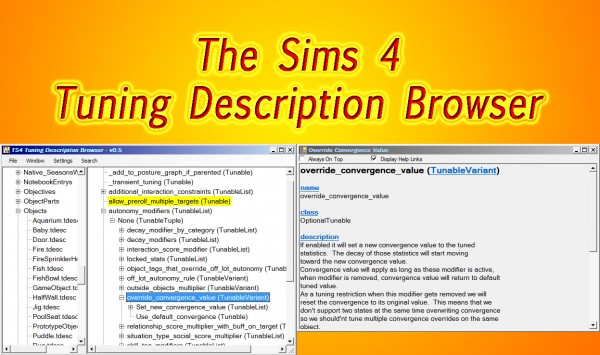 Mod The Sims: Tuning Description Browser Windows Only by scumbumbo
