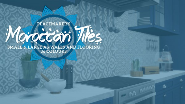 Simsational designs: Moroccan Tiles   Walls and Flooring to Spice up Your Homes