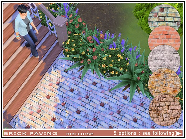 The Sims Resource: Brick Paving by marcorse