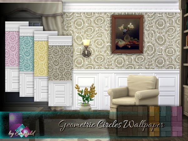 The Sims Resource: Geometric Circles Wallpaper by emerald