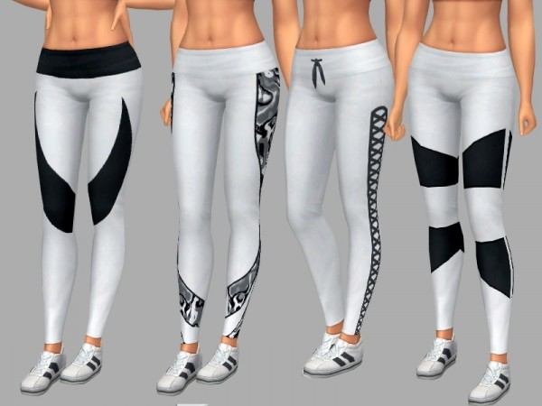 The Sims Resource: Black and White Leggings by dgandy