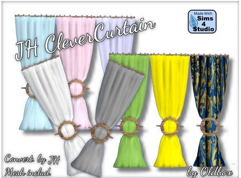 All4Sims: JH Clever Curtain by Odldbox