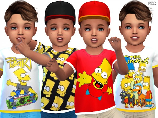 The Sims Resource: The Simpsons Toddler T shirts Collection by Pinkzombiecupcakes