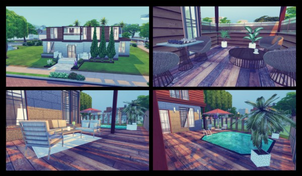 Simming With Mary: Riverside house