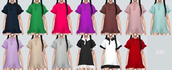 SIMS4 Marigold: Frill Pk Dress