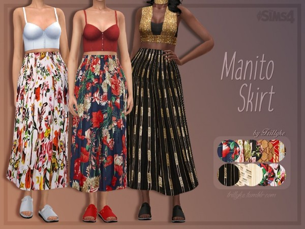 The Sims Resource: Manito Skirt by Trillyke