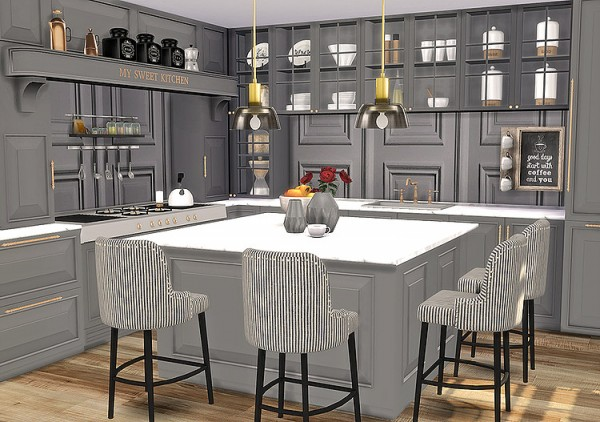 Blooming Rosy Juglans Kitchen Recolor Sims 4 Downloads