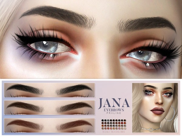 The Sims Resource: Jana Eyebrows N134 by Pralinesims