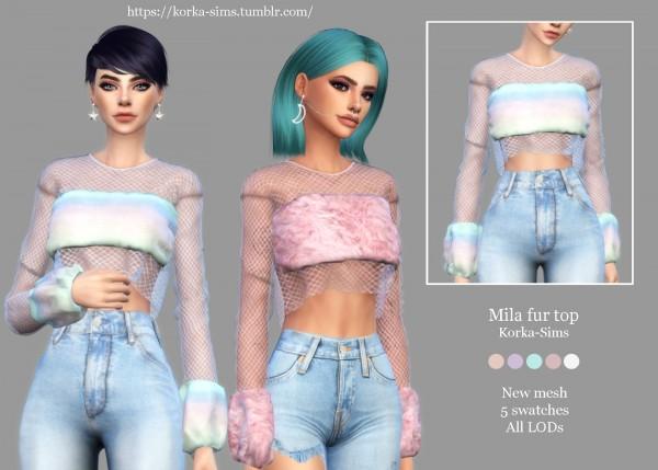 Korka Sims: Mila fur top
