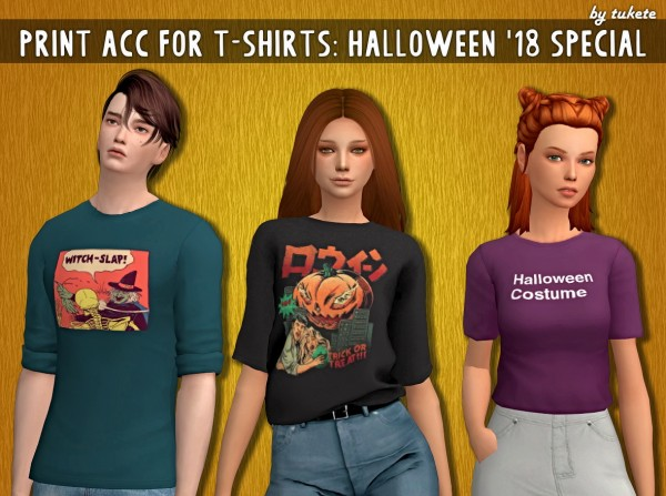 Tukete: Acc Prints for T shirts: Halloween 18 Special