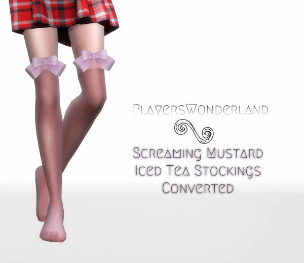 Players Wonderland: Iced Tea Stockings Converted