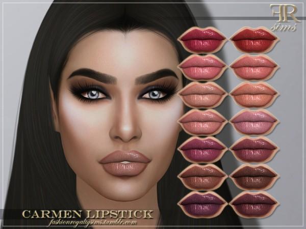 The Sims Resource: Carmen Lipstick by FashionRoyaltySims
