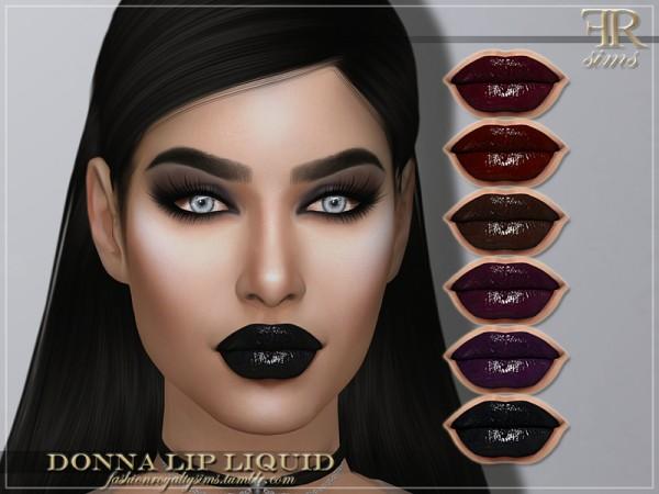 The Sims Resource: Donna Lip Liquid by FashionRoyaltySims