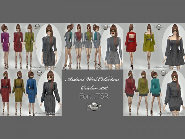 The Sims Resource: Asdemi wool dress 5 by jomsims