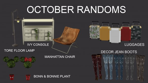 Leo 4 Sims: October randoms