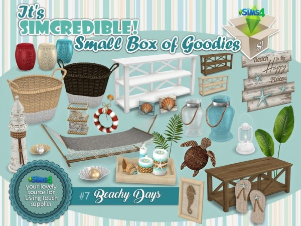 The Sims Resource: Beachy Days Small Box of goodies 7 by SIMcredible!