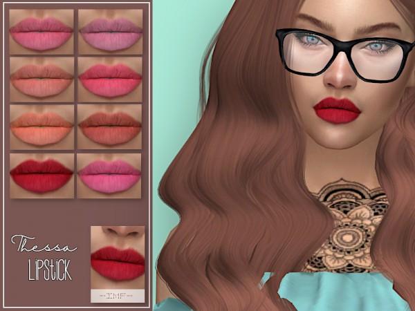The Sims Resource: Thessa Lipstick N.113 by IzzieMcFire
