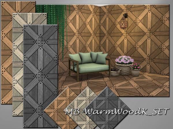 The Sims Resource: Warm Wood K Walls and Floors Set by matomibotaki