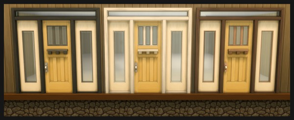 Mod The Sims: The Greatest Craftsman Squared Single Door  by Simmiller