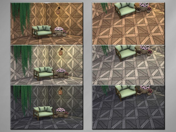 The Sims Resource: Warm Wood K Walls and Floors Set by matomibotaki