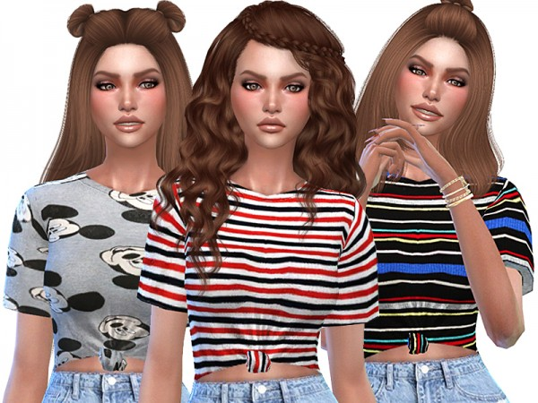 The Sims Resource Cute Striped T Shirts Collection By