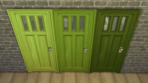La Luna Rossa Sims: Over designed Window Door Colored