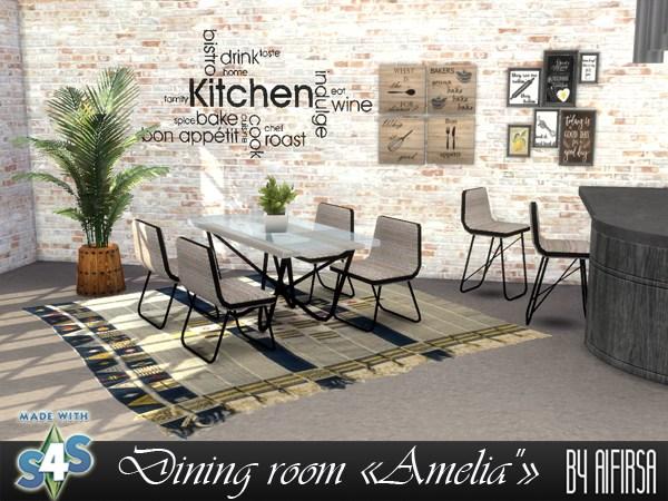 Aifirsa Sims: Diningroom Amelia
