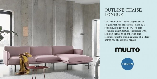 Meinkatz Creations: Outline Chaise Longue by Muuto