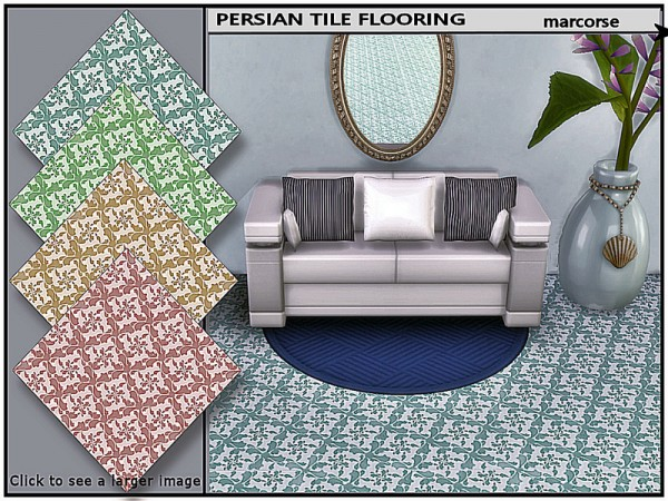 The Sims Resource: Persian Tile Flooring by marcorse