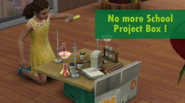 Mod The Sims: No more school project box by Nova JY