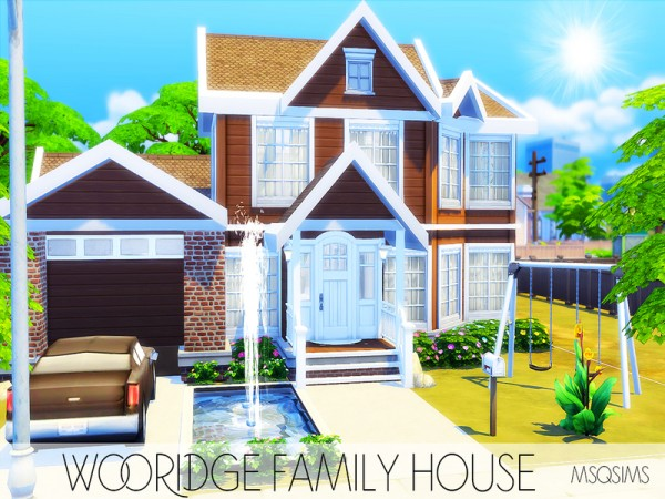 The Sims Resource: Wooridge Family House by MSQSIMS