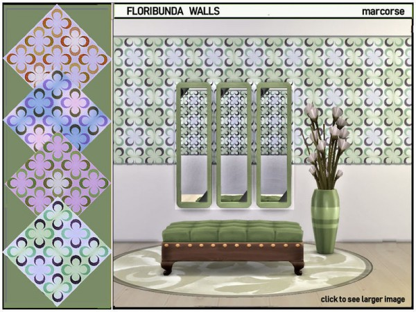 The Sims Resource: Floribunda Walls by marcorse
