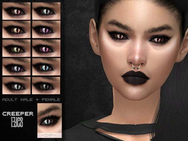 The Sims Resource: Halloween Creeper Eyes by IzzieMcFire