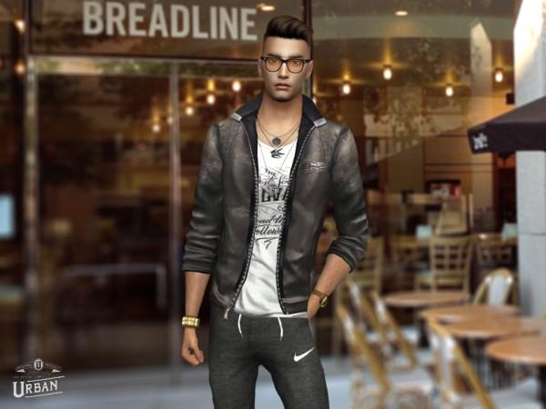 Hoanglap Sims: Urban Jacket and typo shirt