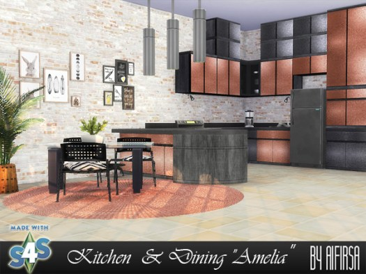 Aifirsa Sims: Kitchen and Dining Amelia   Room