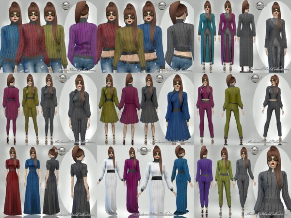 The Sims Resource: Asdemi wool jumpsuit by jomsims