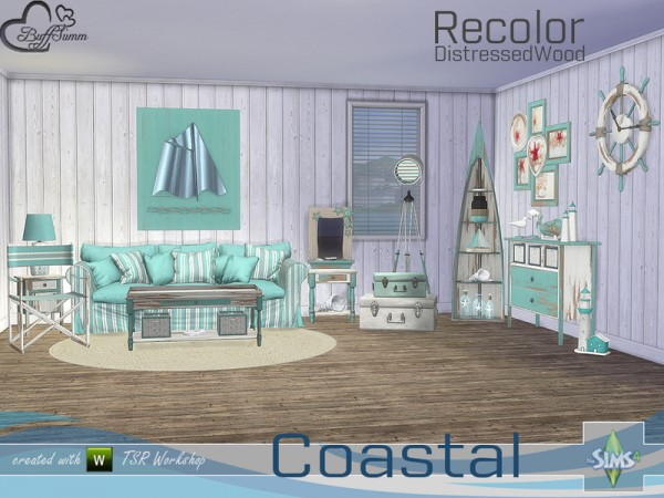 The Sims Resource: Coastal Living Distressed Wood Recolor by BuffSumm