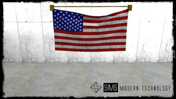 Sims Modern Technology: Flag Set