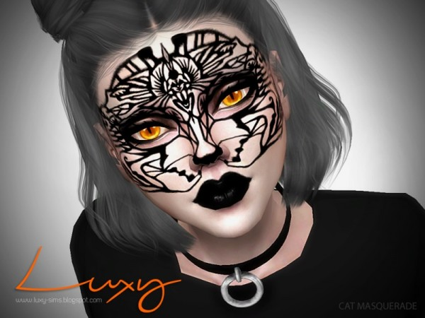The Sims Resource: Cat Masquarade face paint by LuxySims3