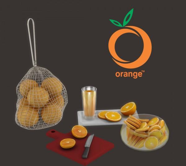 Leo 4 Sims: Orange Set