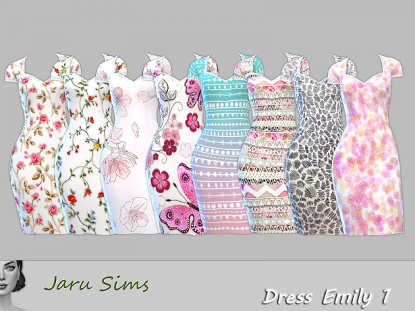 The Sims Resource: Dress Emily 1 by Jaru Sims