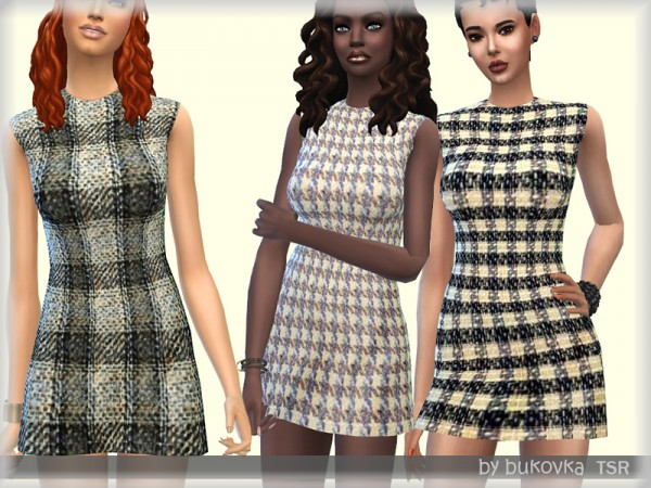 The Sims Resource: Dress Tweed TYA by bukovka