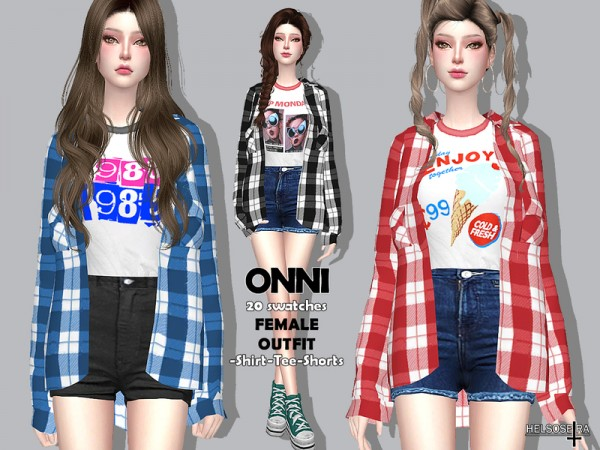 The Sims Resource: Onni Outfit by Helsoseira