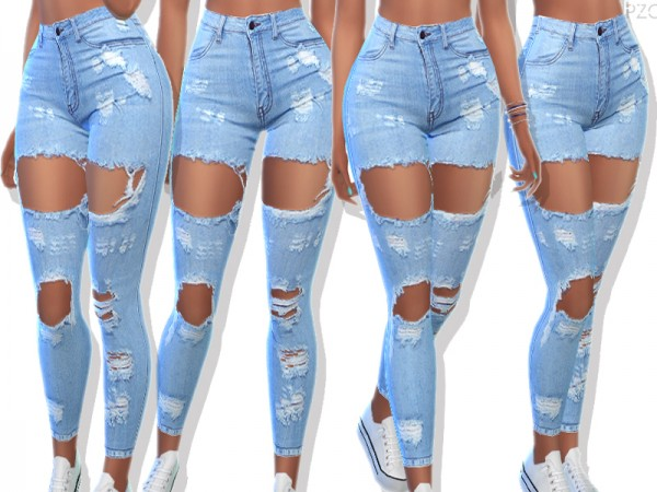 The Sims Resource: Ripped Denim Jeans 049 by ...