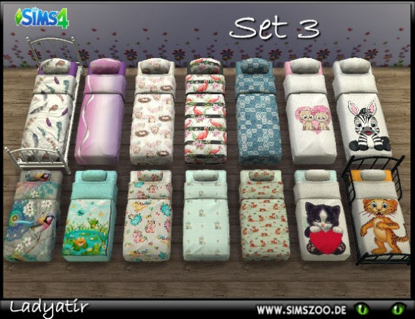 Blackys Sims 4 Zoo: Beddings set 3 by adyatir