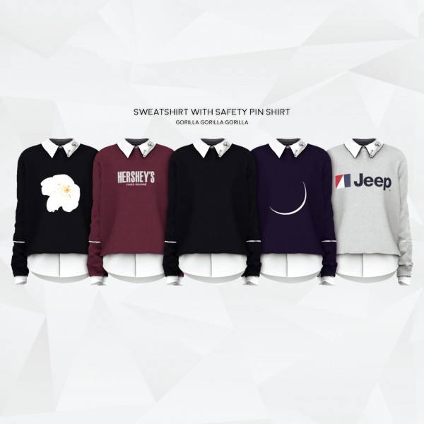 Gorilla: Sweatshirt with Safety Pin Shirt