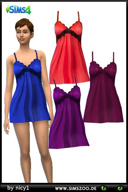 Blackys Sims Zoo: Nightdress 01 by nicy1